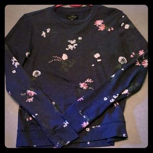 Lucky Brand blue floral sweatshirt.